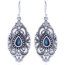 Flotte sølv øreringe
