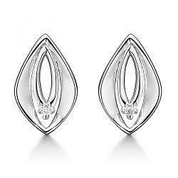 Diamantøreringe med hvid diamant