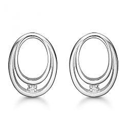 Hjerte øreringe med diamanter