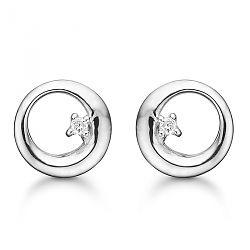 Øreringe med hvide diamanter